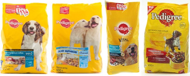 собачий корм Pedigree фото упаковки