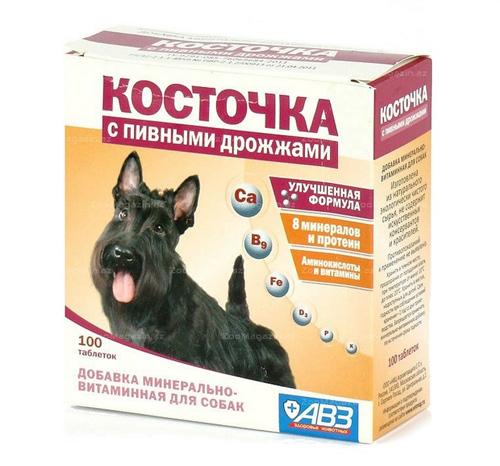 Косточка с натуральными дрожжами Агроветзащита (АВЗ) для собак