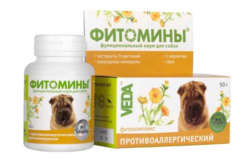 Фитомины для аллергичных животных