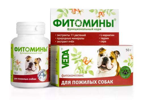 Фитомины для стареющих собак
