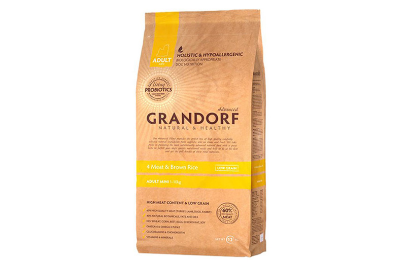 Grandorf Adult Mini 4 Meat & Brown Rice Hypoallergenic