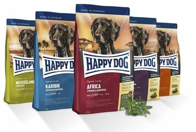 собачий корм Happy Dog фото упаковки